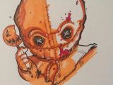 Drawing Ideas with Markers today S Horrorchallenge by Mercenary Art Studio Artist Puis Calzada