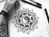 Drawing Ideas Yin Yang Yin Yang Dotwork Mandala Tattoo Design Miletune Endless Random