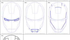 Drawing Iron Man Easy How to Draw Iron Man S Helmet Printable Step by Step Drawing