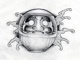 Drawing Japanese Eyes Daruma Doll Drawn by Aidan Lozz forge Tattoo Leicester Tattoo