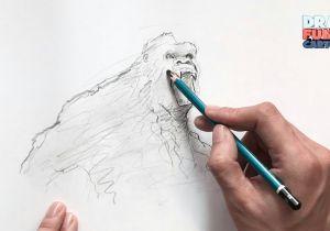 Drawing Kong Skull island How to Draw Kingkong 2 From Skull island King Kong