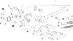 Drawing L C Fahrgestell Hauptstander Aprilia Rsv 4 Rr 1000ccm 4t Lc 2015