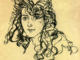 Drawing Mediums Madame sohn 1918 Egon Schiele Size 36×30 Cm Medium Charcoal On