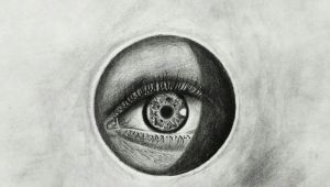 Drawing Mediums Title Realistic Eye Medium Charcoal Size A4 Art by Jayesh