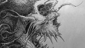 Drawing Monster Skull Evil Skull Drawing Drawing Ideas Pinterest Skull Art Drawings