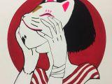 Drawing Neko Girl Cat Mask Girl Drawing In 2019 Drawings Art Art Drawings