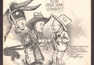 Drawing Newspaper Cartoons Political Cartoon by Clifford Berryman Depicting Sam Rayburn and