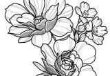 Drawing Of A Big Rose Floral Tattoo Design Drawing Beautifu Simple Flowers Body Art