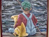 Drawing Of A Boy with A Dog Painting Of Little Boy and Dog Fishing My Art Www Facebook Com