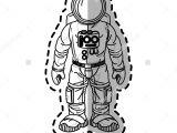Drawing Of A Cartoon astronaut isolated astronaut Cartoon Design Disea Os De Nia Os Pinterest