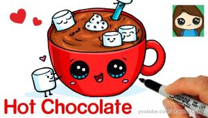 Drawing Of A Cartoon Food How to Draw Hot Chocolate with Marshmallows Cartoon Food Youtube