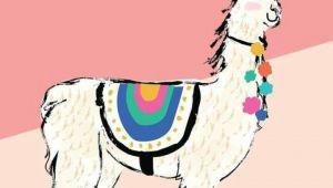 Drawing Of A Cartoon Llama Lhamalhamalhama Drawing Llama Alpaca Llama Birthday Llama Drawing