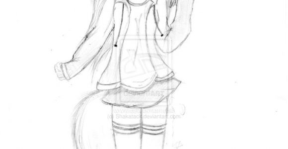 Drawing Of A Cat Girl Anime Cat People Female Anime Cat Girl the Question How to Draw