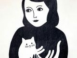 Drawing Of A Cat Person Hug Audrey Jeanne Cat Person Pinterest tote Bag