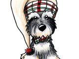 Drawing Of A Christmas Dog Schnauzer Drawing Winter Schnauzer by Kim Niles Schnauzers