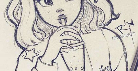Drawing Of A Cute Girl Cute Girl A I In 2020 Cute Drawings Pencil Art Drawings