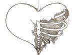 Drawing Of A Damaged Heart Emo Drawings Od Broken Hearts Broken Hearts Cool Art In 2019