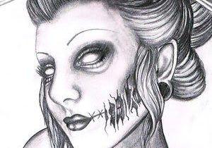 Drawing Of A Dead Girl A A A A A A A A A A A A A A A A A Aa A A A A Geisha Tattoo Drawing Design Sexy Girl