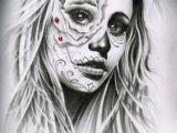 Drawing Of A Dead Girl by Ivano Natale Art Day Of Dead Tattoo Chicano Tattoos Tattoos