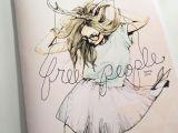 Drawing Of A Deer Girl Art Deer Drawing Fashion Fashion Illustration Free People Girl