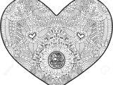Drawing Of A Detailed Heart Abstraktes Herz Mit Schonem Detail Fur Das Malen Des Antidruckes
