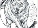 Drawing Of A Dire Wolf Wolf Running In the Moonlight I Was Inspired to Draw This by A Lot