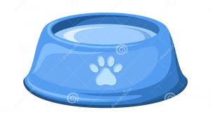 Drawing Of A Dog Bowl Blue Dog Bowl with Water Vector Illustration Stock Vector
