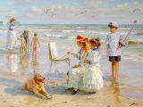 Drawing Of A Dog On the Beach Alexander Averin Art at the Beach Pinterest Artist Art and