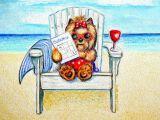 Drawing Of A Dog On the Beach Artist Catia Cho Via Fineartamerica Com Yorkis Pinterest