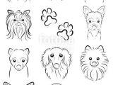 Drawing Of A Dog S Face Fotolia Comi I E I I I E E I Dog Line Drawing by Keko Ka E