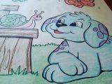 Drawing Of A Dog Standing Okay I Know A Dog Can T Be Sky Blue with Purple Dots but Coloring