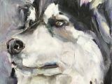 Drawing Of A Dog Tag Dog Portrait original Small Oil Painting One Of A Kind Husky Art