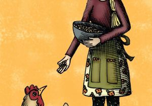 Drawing Of A Farm Girl Hannah Tuohy Illustrator Girl and Hen Hannah Tuohy Illustrations