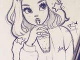 Drawing Of A Fashion Girl Girl Fashion Dress Drawing Stripes Art Diy Drawings Art