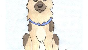 Drawing Of A Fluffy Dog German Shepherd by Teal Husky On Deviantart Art Paintings
