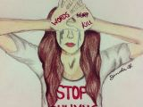Drawing Of A Girl Being Bullied Psicologia De Mim Para Si Bullying Psicola Gico Random Stuff In