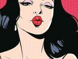 Drawing Of A Girl Blowing A Kiss Pin Od Patrycja K Na Vintage Art Pop Art I Pop Art Girl