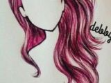 Drawing Of A Girl Coloured Pelo Rosa Rojo Lapiz Color Dibujosa Pinterest Drawings Girls