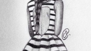 Drawing Of A Girl Dress Girl Fashion Dress Drawing Stripes Art Diy Drawings Art