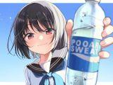 Drawing Of A Girl Drinking Water Pin by Minori Motonari On Emotions Actions Pinterest Anime