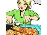 Drawing Of A Girl Eating Pizza Pizza Girl Vector Images Over 550