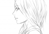 Drawing Of A Girl Facing Sideways Girl Side View Sketch by Bunsyo On Deviantart Art Stuff 3