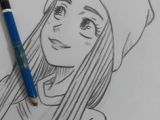 Drawing Of A Girl From Side Drawing Side Profile Girl Sketch Inspiration Pinterest