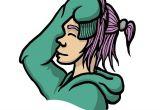Drawing Of A Girl In A Hoodie Yuki 03 Girl Hoodie Pink Hair Smile Drawing Art Doodle