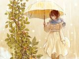 Drawing Of A Girl In Rain A C Starrye Ae Ae E C A Ae C Arts Anime Art Art Illustration