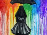 Drawing Of A Girl In Rain Walk Away Good Stuff In 2019 Painting Art Drawings