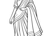 Drawing Of A Girl In Saree Saree Indian Girl Coloring Page D D N D D D N Don D N Dod Saree Coloring