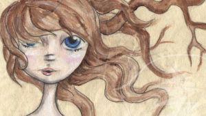 Drawing Of A Girl In Water Water Girl Tree Girl by Rachael Treetalker Art Drawings