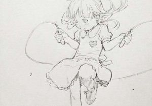Drawing Of A Girl Jumping Caaa A Eisaku E C On Character Design Sketch Doodle Drawings