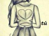 Drawing Of A Girl Looking Back Girl Fashion Dress Drawing Stripes Art Diy Drawings Art